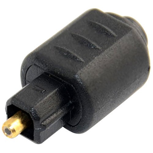 Mini Toslink, attacco jack femmina per adattatore audio cavo ottico Toslink, colore nero, da 3,5 mm