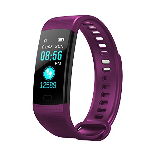 BZLine Bluetooth Smartwatch, Smart Watch Uhr Intelligente Armbanduhr Fitness Tracker Armband Sport Uhr mit Herzfrequenz Aktivität Schrittzähler Blutdruckuhr für Kinder Frauen Männer (Lila)