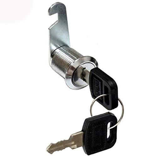 Briefkastenschloss Zylinderschloss, Zylinder Cam Lock, Möbelschloss Schrankschloss Spindtürschloss Schubladeschloss mit 2 Schlüsseln, Größenauswahl 16mm 20mm 25mm 30mm (16mm)