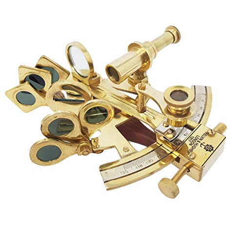 The New Antique Store Sextante de Bolsillo de Latón Kelvin Hughes London Solid Brass Sextant Marine Astrolabio