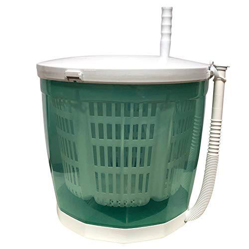 LYNN Mini-Waschmaschine, tragbar, kompakt, 2-in-1, handbetrieben, für Camping, Reisen, Outdoor grün