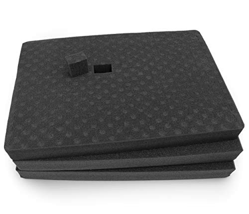 CASEMATIX 3 Pack Gun Case Foam Customizable Insert with...