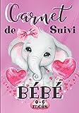 Carnet de Suivi de Bébé 0-6 Mois: Journal de bord journalier à remplir pour les mamans / Album photos pour se souvenir / Cahier de santé et de bien-être du nourrisson / Eléphant