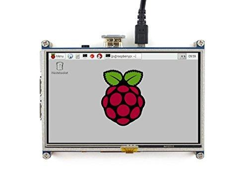 Makibes Touch Screen 5 Inch LCD (A) 800×480 HDMI Con il caso Bicolor Direttamente-Pluggable Progettato per Raspberry Pi 2 Model B/A