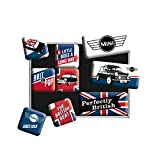 Nostalgic-Art Juego de Imanes Retro Mini Union Jack – Regalo para los Fans de los Coches, Decoración para la Nevera, Diseño Vintage, 9 Unidades