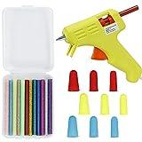 High-Temp Mini hot Glue Gun - Hot Glue Gun 12 pcs Colored hot Glue Sticks, and Silicone Finger Protectors Cap