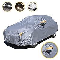 車のカバー適したカーカバーフィット ボルボ for VOLVO V60 2011-2017 日雨雪に強い保護防水カバーオールウェザー自動車ボディカバー屋外の太陽紫外線保護(黄)