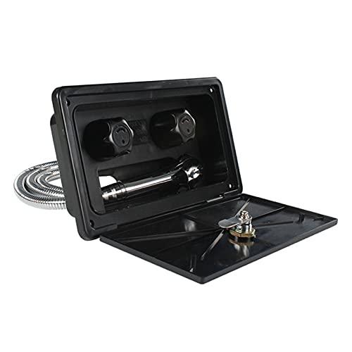 ZIHAN Feil Store Kit de Caja de Ducha Exterior de RV con Bote de Bloqueo Camper MARRYHOME Caravan Acceso (Color : 7HH802940 BK)