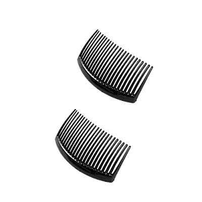 Hair Comb Pack of 2 Pcs Black Clip Hair Accessories for Womens/Girls