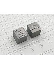 10 mm Cubo Metal Itrio Y?99.9% Alta Pureza Cubo Itrio Metal Tallado Elemento Periódico Tabla Cubo