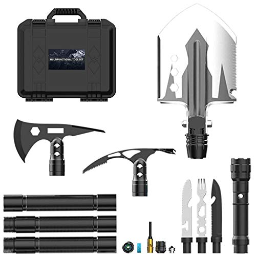 Camping Shovel Axe Set NANSHI Multifunctional Folding Shovel Entrenching Tools Portable Spade Axe Pick Gear and Equipment for Outdoor Hiking Offroading Emergency Gifts for Men