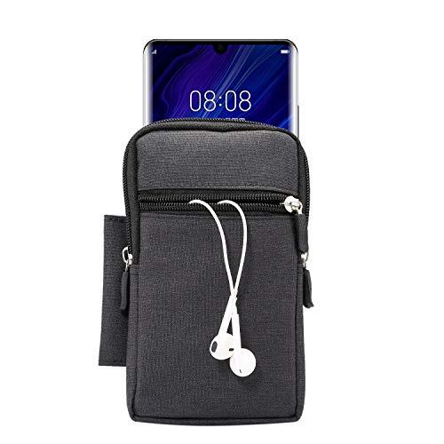 GUOQING Clip para el cinturón del teléfono celular, monedero de lona, bolso pequeño, bolsa para el cinturón del teléfono móvi