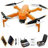 Taotuo Drone RC, JJRC X17 Drone Con Cámara, Tiempo De Vuelo De 60 Minutos, Rc Drone Quadcopter 5g Wifi Drone Con Cámara Antidebicia 6K HD Para Principiante, Motor Sin Escobillas (1 batería, naranja)