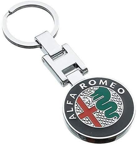 Car Styling Llavero Llavero, Llavero, 1Pcs decoraciones de metal Fit For Alfa Romeo 159 en 3D de coches Alfa Romeo llavero pendiente dominante del mejor regalo de plata Negro Oro Rojo, Color: Negro Ll