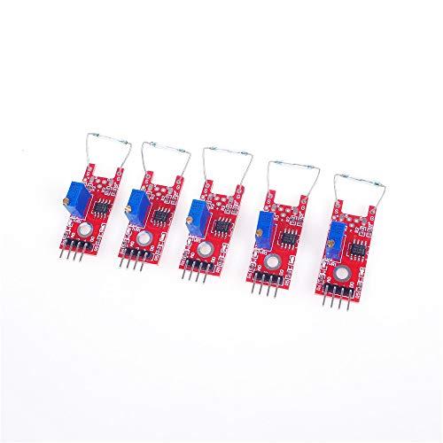 ANGEEK 5 Stück Arduino Magnetschalter Reed Kontakt Analog einstellbar Modul Sensor KY-025