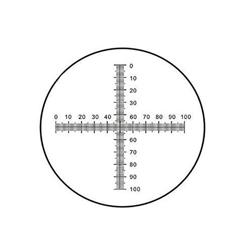 Microscope Micrometer Net Shaped Eyepiece Micrometer Microscope Calibration Ruler Slides Area Measuring Microscope Micrometer (C7)