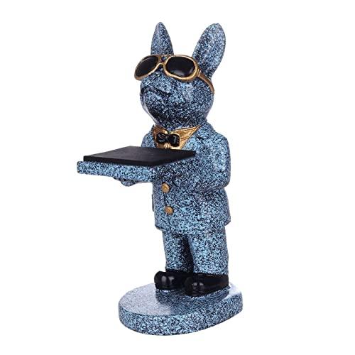yotijay 1 STÜCK Kreative Bulldogge Uhr Stand Storage Mode Halskettenhalterung Geschenk