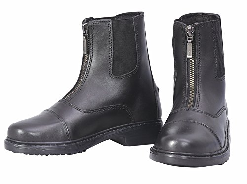TuffRider Perfect Front Zip Paddock Boot Children Black 5 CH