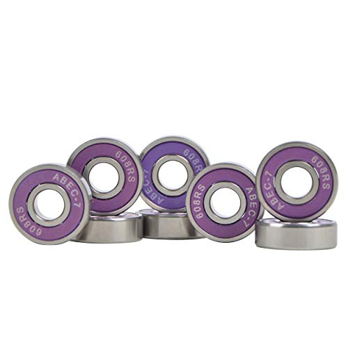 Apollo Kugellager Set ABEC 7, Bearing 2,1x0,7cm für Longboard Skateboard Scooter