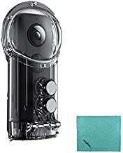 Insta360 ONE X Camera Diving Case Housing IPX8 30 Meters Waterproof with 1/4 Inch Screw Hole for Surfing Diving Snorkeling with Andoer Cleaning Cloth