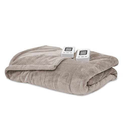SensorPedic Heated Electric Blanket with SensorSafe, King, Cappuccino