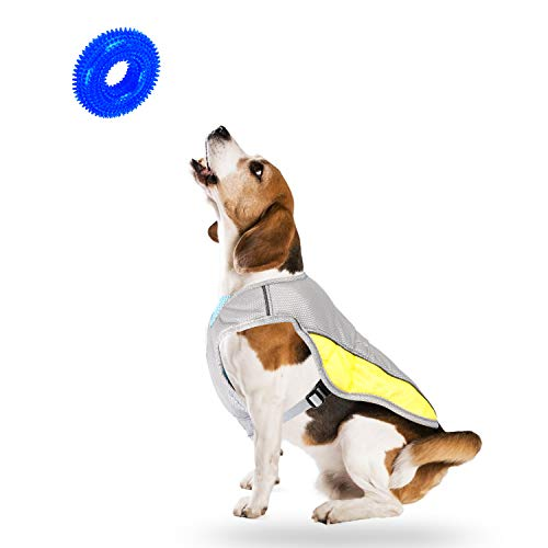 LATTOOK Dog Cooling Vest, Pet Dog Harness Cooler Jacket Anxiety Relief, Safety Reflective Cooling Coat for Small Medium Large Dogs Walking Sport Outdoor Hunting Hiking Training Camping(S)