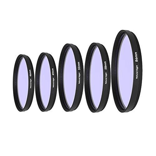 TTSJSM Filtro UV,Filtro Polarizador Neutral Filtro Nocturno Densidad Anti-luz Filtro daños 46/52 / 55/58/62/67/72/77/82 / 86mm (Caliber : 58mm)