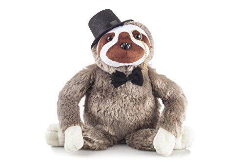 Fancy Friends Sloth Stuffed Animal: These Stuffed Sloth Plush Toys Come With a Tophat, Monocle & Bowtie- Perfect for Children or Adults   Great Party Gift or Bedtime Friend for Boys & Girls   14 Tall