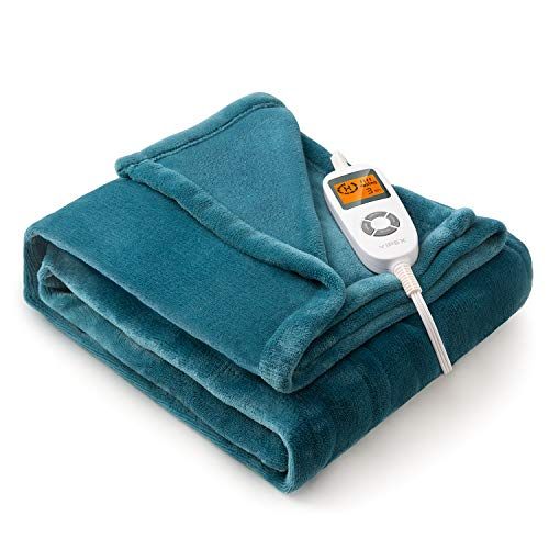 "VIPEX Heated Blanket Electric Throw, 50"" x 60"" Flannel Electric Blanket with..."