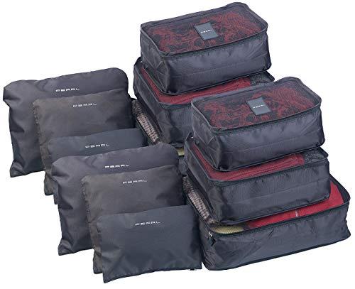 PEARL Packbeutel für Koffer: 12er-Set Kleidertaschen für Koffer, Reisetasche & Co, 6 Größen (Koffertaschen)
