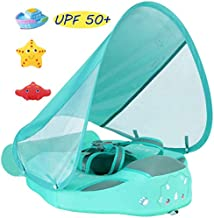 VQ-Ant 2020Newest Size Improve ADD Tail Never FLIP Over MamboBaby Solid Swimming Float Non Inflatable Swim Trainer Pool Float Mambo Float Mambobaby Float with Canopy Swim Ring with Sun Shade