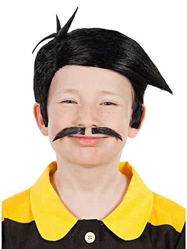 Maskworld Peluca y Barba de los Dalton para nios - Los Chicos Malos de Lucky Luke Comics