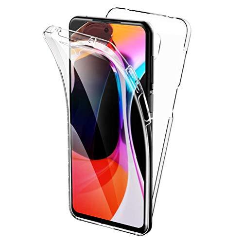All Do Funda para Xiaomi Redmi Note 9S/9 Pro, 360 Grados Protección Diseñada, Transparente Ultrafino Silicona TPU Frente y PC Back Carcasa, Funda de Doble Protección - Transparente