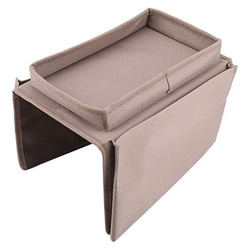MGYXK Almacenamiento Colgante Sofá reposabrazos Colgando TV Control Remoto Organizador de la Bolsa de Almacenamiento del sofá con la Bandeja de la Taza Bolsillo de Almacenamiento (Color : Chocolate)