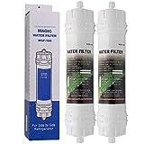 Magic Water Filter WSF-100 | Paquete de 2 - Filtro de agua para frigorífico Samsung - Cartucho filtrante externo para refrigerador, nevera americano - Filtros WSF100