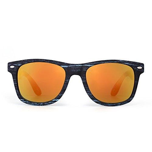 Gafas de Sol Retro Vintage Revo Para Hombre Mujer Borde de Cuerno...