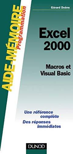 Aide-mémoire Excel 2000 : Macros et Visual Basic PDF Books