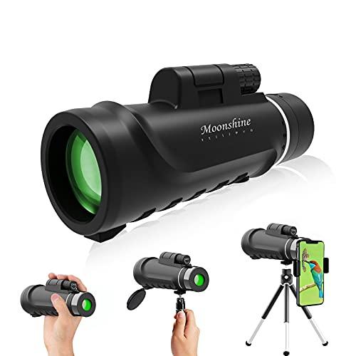 Prismáticos de 12 x 50 para adultos, prisma BAK4 impermeable HD profesional prismáticos para aves 150
