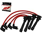 JDMSPEED New Red Ignition Spark Plug Wires Set Replacement For Mazda Miata 1.6L 1.8L 90-00