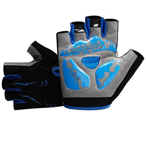FUMENTON Cycling Gloves Mountain Bike Gloves - Light Anti Slip Gel Pad Shock Absorbing Breathable Half Finger Bike Gloves, MTB Road Bike Gloves for Men/Women
