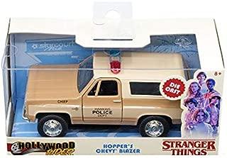 New DIECAST Toys CAR JADA 1:32 W/B - Hollywood Rides - Stranger Things - HOPPER'S Chevrolet Blazer (Beige) 31114