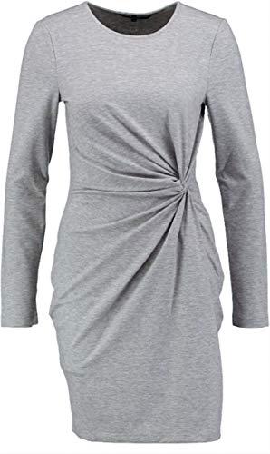 VERO MODA geschmeidig Robustes graues Stretchkleid fällt 1 größe Kleiner Größe S