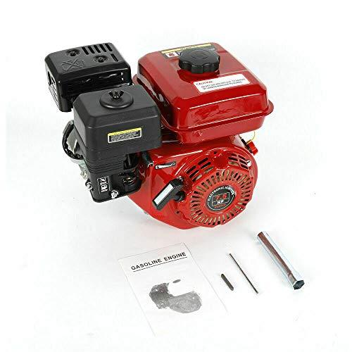 Motor de gasolina OHV de 7,5 HP, 4 tiempos, refrigeración por aire, 25°, monocilíndrico inclinado, 5,1 kW, 3600 rpm, motor de estacionamiento, motor de kart, con alarma de aceite.