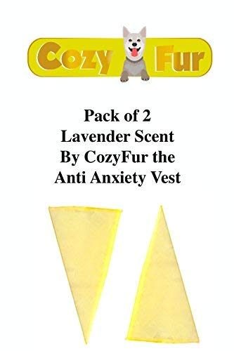 AGON Refill for CozyVest Pack of 2 Essential Oil Crystal Aromatherapy Scent Relaxing & Calming Smell Stress Aggression Fear Fireworks Storm Thunder Separation Triangle Dog Anxiety Shirt (Lavender)
