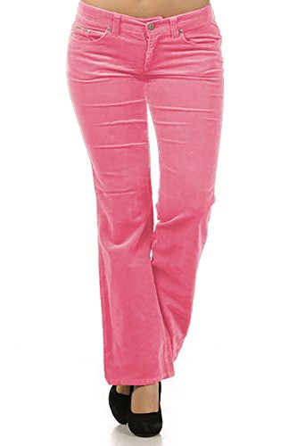 Limit 33 Plus Size Juniors Teens Corduroy Pants Low Rise Boot Cut School Work Pink Size 3X
