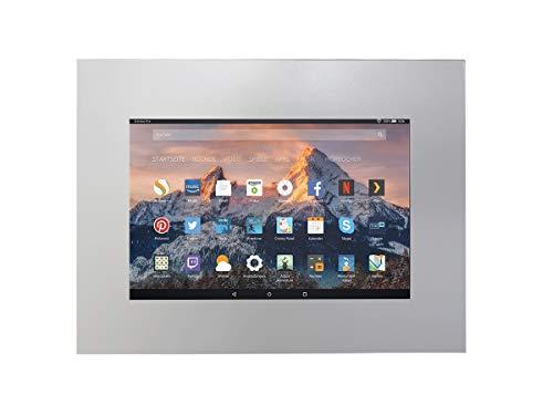 TabLines TWE061QS Tablet Wandeinbau für Amazon fire HD, 25,4 cm (10 Zoll) Querformat Silber