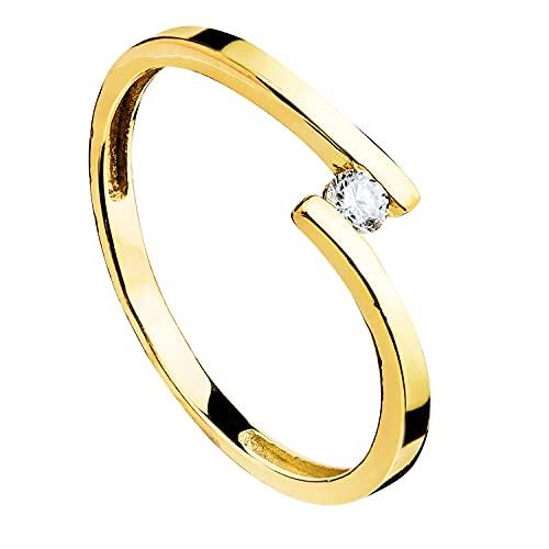 Anillo de mujer compromiso aniversario Matty oro amarillo 18 kilates 750 Mls circonita ideal pedida de mano (10)