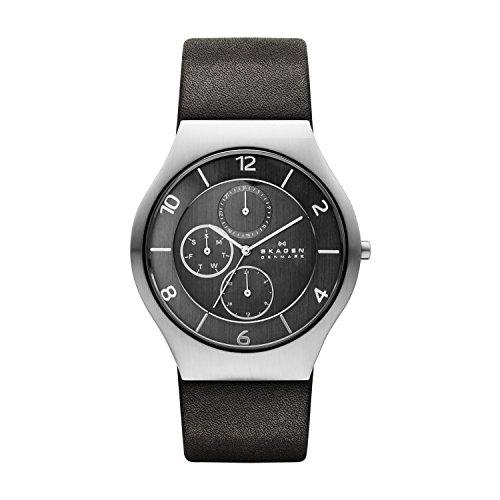 Skagen Herren-Armbanduhr XL Analog Quarz Leder SKW6116