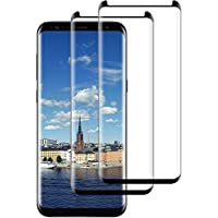 DOSNTO 2-Pack Cristal Templado para Samsung Galaxy S8 Plus, Protector de Pantalla [Negro] Cobertura Completa, Premium 9H Definición, 3D Curvado, Funda Compatible Cristal Templado con Anti-Burbujas