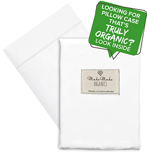 Organic Body Pillow Cover Pillowcase (Pack of 1) GOTS Certified Organic Cotton Body Pillowcase 500 TC Soft Hypoallergenic Breathable Envelope Closure Fits Body Pillow Covers 20x56 (Body, Bright White)